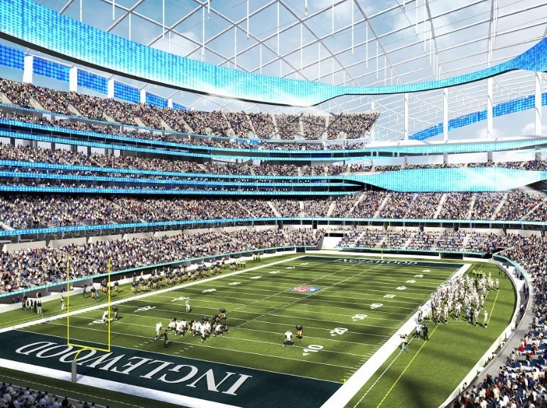 Rendering of Los Angeles Rams future stadium