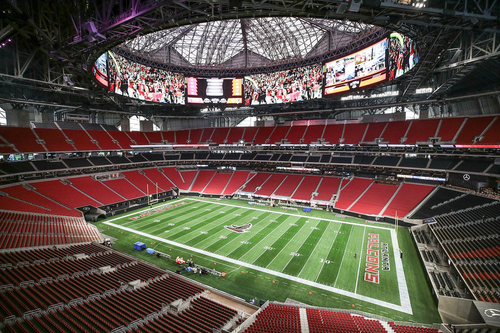Mercedes-Benz Stadium, home of the Atlanta Falcons