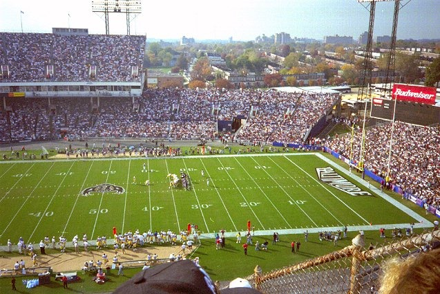 Memorial Stadium, former home of the Baltimore Colts and Ravens