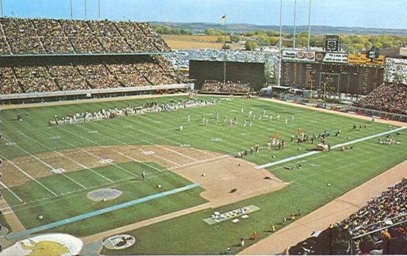View from the upper deck at Metropolitan Stadium, former home of the Minnesota Vikings