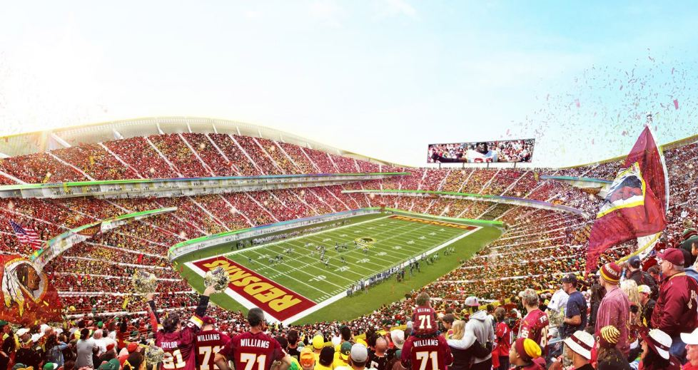 Rendering of Redskins future stadium