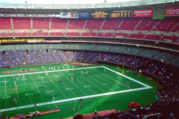 Riverfront Stadium, former home of the Cincinnati Bengals