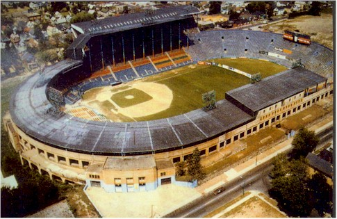 Aerial of War Memorial Stadium former home of the Buffalo Bills