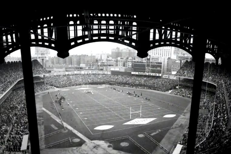 View from the upper deck at Yankee Stadium, former home of the New York Giants