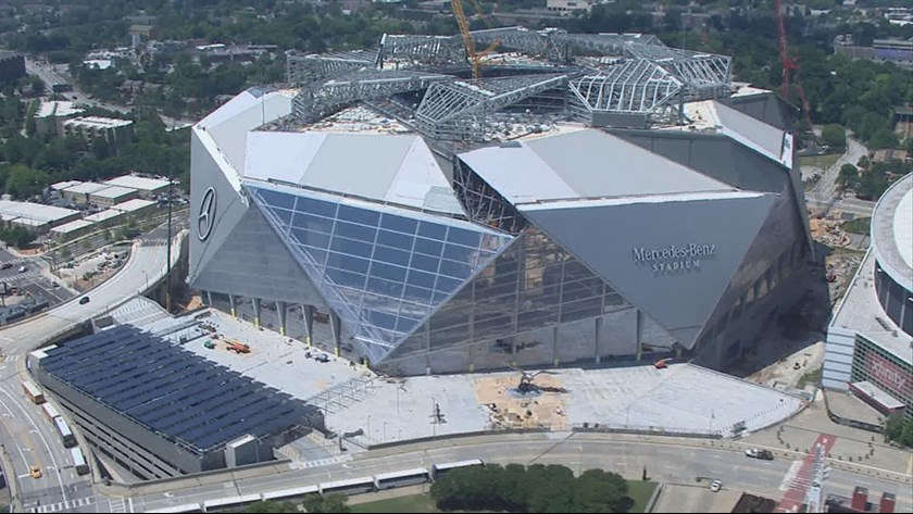 Mercedes benz stadium atlanta falcons football stadium for Who owns mercedes benz stadium